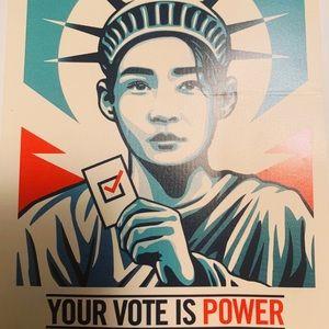 """Sticker Vote Statue of Liberty New 4x3"""""""